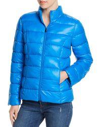 Aqua Packable Puffer Jacket - Blue