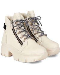 Giuseppe Zanotti Apocalypse 20 Lug Sole Double Zip Platform Hiking Boots - Multicolour