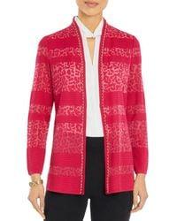 Misook Textured Burnout Jacket - Multicolour