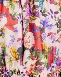 Aqua X Mary Katrantzou Floral Off The Shoulder Top - Pink