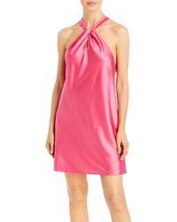 Aqua Halter Dress - Pink