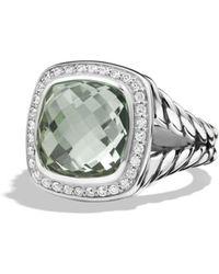 David Yurman - Albion Ring With Prasiolite And Diamonds - Lyst