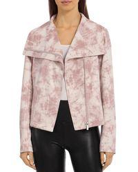Bloomingdale's Bagatelle Tie Dye Faux Suede Envelope Jacket - Pink