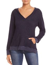 Three Dots - Terry-trimmed Pullover Beach Hoodie - Lyst