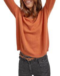 Gerard Darel Dally Oversized Cashmere Jumper - Orange