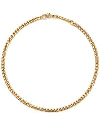 Zoe Chicco - 14k Yellow Gold Curb Chain Anklet - Lyst