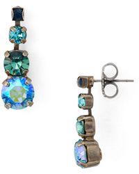 Sorrelli - Crystal Gradient Drop Earrings - Lyst