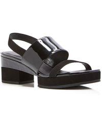 Delman   Malia Platform Slingback Sandals   Lyst