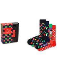 Happy Socks Disney Gift Box - Set Of 4 Socks - Red