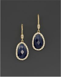 Meira T - 14k Yellow Gold Sapphire And Diamond Earrings - Lyst