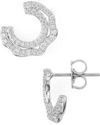 Nadri - Corsage Small Wrap Earrings - Lyst