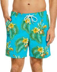 Tommy Bahama Tropical Leaf Swim Trunks - Blue