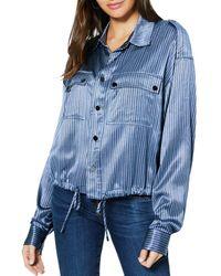 Ramy Brook Lia Striped Jacket - Blue