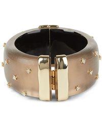 Alexis Bittar Large Studded Lucite Hinge Bracelet - Multicolour