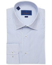 David Donahue - Men's Trim-fit Multi-dot Dress Shirt - Lyst