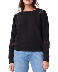 PAIGE Daytona Lace Cotton Sweatshirt - Black