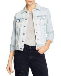 AG Jeans Robyn Slim Fit Denim Jacket - Blue