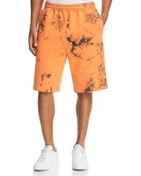 Helmut Lang - Terry Acid-wash Pull-on Shorts - Lyst