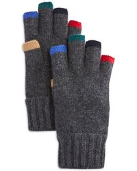 Bloomingdale's The Store At Bloomingdale's Colour Trimmed Fingerless Gloves - Grey