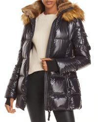 Aqua Luxe Gramercy Hooded Puffer Jacket - Black