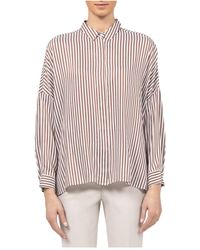 Peserico - Striped Blouse - Lyst