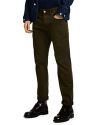 Scotch & Soda Ralston Skinny Fit Jeans In Military Green