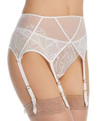 Dita Von Teese Maestra Suspender Belt - White