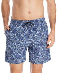 Brooks Brothers - Paisley-print Swim Shorts - Lyst