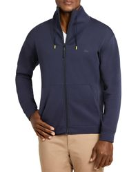 Lacoste Zip - Up Sweatshirt - Blue