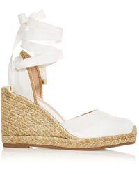 Stuart Weitzman Marguerita Wedge Platform Espadrille Sandals - Multicolor