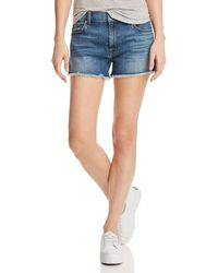 7 For All Mankind - High Rise Vintage Cutoff Jeans In Primm Valley - Lyst