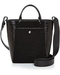 Elizabeth and James - Eloise Small Shearling & Embossed Leather Tote - Lyst