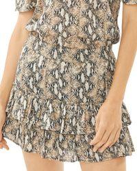 Generation Love Audrina Ruffled Mini Skirt - Brown