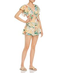Finders Keepers Paradise Floral Tie - Front Romper - Yellow
