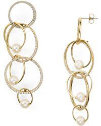 Nadri - Pavé Overlapping Earrings - Lyst