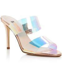 SJP by Sarah Jessica Parker Women's Fling High - Heel Slide Sandals - Blue