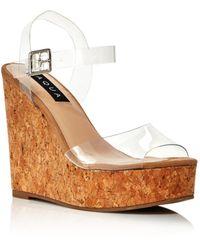 Aqua Women's Cute Wedge Heel Sandals - Multicolour