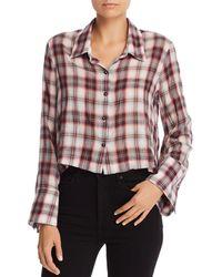 Splendid - Plaid Cropped Shirt - Lyst