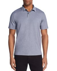 Theory Standard Tipped Regular Fit Polo Shirt - Blue