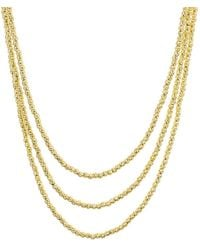 Aqua - Sterling Layered Sparkle Necklace - Lyst