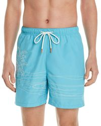 Tommy Bahama Naples On The Beach Embroidered Swim Trunks - Blue