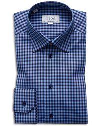 Eton of Sweden - Check Regular Fit Dress Shirt - Lyst