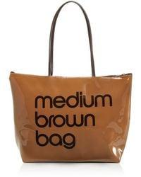 Bloomingdale's Zip Top Medium Brown Bag