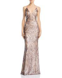Aqua - Deco Sequined Gown - Lyst