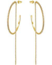 Swarovski Fit Hoop Earrings - Metallic