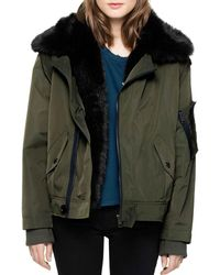 Zadig & Voltaire Kassy Faux-fur-lined Coat - Green
