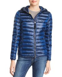 Parajumpers Rosalyn Hooded Short Down Coat - Blue