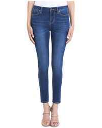 Liverpool Jeans Company - Piper Skinny Ankle Jeans In Dark Blue - Lyst