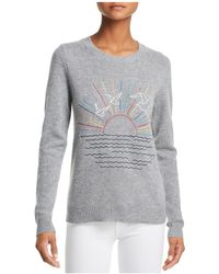 Aqua - Sunset-embroidered Cashmere Sweater - Lyst