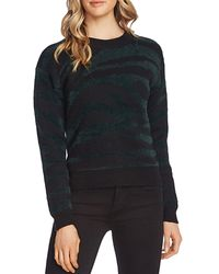 Vince Camuto Eyelash Textured Zebra Sweater - Multicolor